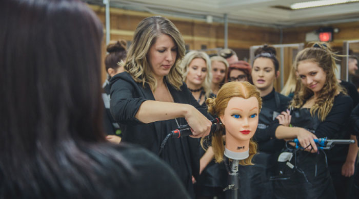 Douglas J cosmetology class in session